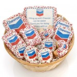 12- PC Corporate Logo Gift Basket -9 Round Willow