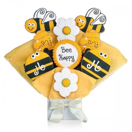 Bee Happy Cookie Bouquet