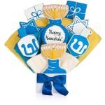 Happy Hanukkah Cookie Bouquet