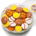MINI SUGAR SHORTBREAD COOKIE ACETATE- SPORTS ASSORTED