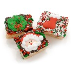 Christmas Chocolate Dipped Mini Crispy Rice Bars- Individually Wrapped