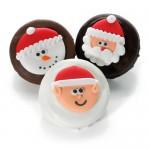Christmas Joy Chocolate Dipped & Decorated Oreos®- Individually Wrapped