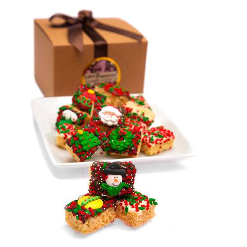 Christmas Mini Krispie Gift Box