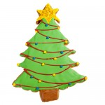 Christmas Tree Cookie Favor- With Holiday Garlands
