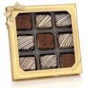 Classic Chocolate Dipped Mini Crispy Rice Bars- Window Gift Box of 9