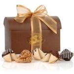 Classic Treasure Chest of 12 Gourmet Fortune Cookies