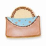 Designer Purse Cookie Favor- Brown and Blue