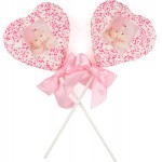 Dipped & Decorated Jumbo Picture Crispy Rice Bars- HEART