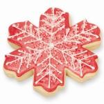 Elegant Snowflake Cookie Favor - Holiday Red