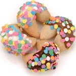 Festive Confetti Hand-Dipped Gourmet Fortune Cookies- INDIVIDUALLY WRAPPED BULK