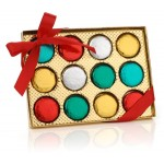 Foil Wrapped Belgian Chocolate Dipped Oreos®-Gold Gift Box of 12