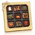 Halloween Chocolate Dipped Mini Crispy Rice Bars- Window Gift Box of 9