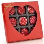 Heart Sprinkles Chocolate Dipped Oreos® Box of 9