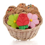 Lovely Flowers Cookie Gift Basket