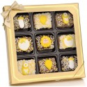 Neutral New Baby Chocolate Dipped Mini Crispy Rice Bars- Window Gift Box of 9