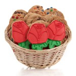 Red Roses Cookie Gift Basket