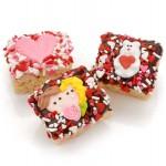 Romantic Chocolate Dipped Mini Crispy Rice Bars- Individually Wrapped
