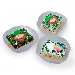 St. Patrick's Day Chocolate Dipped Mini Crispy Rice Bars- Individually Wrapped