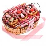 Valentine's Pretzel Gift Basket