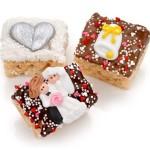 Wedding Chocolate Dipped Mini Crispy Rice Bars- Individually Wrapped