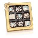 Winter Chocolate Dipped Mini Crispy Rice Bars- Window Gift Box of 9