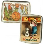 Halloween Vintage Postcard Cookies, one dozen