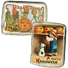 Halloween Vintage Postcard Cookies, one dozen