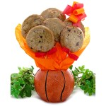 Basketball Cookie Gift Planter - 6 or 12 Gourmet Cookies