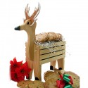 Christmas Wooden Reindeer - 12 Gourmet Cookies