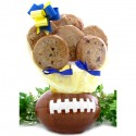 Football Cookie Gift Planter - 6 or 12 Gourmet Cookies