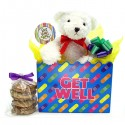 Get Well Teddy Bear Cookie Bouquet with 6 or 12 gourmet cookies