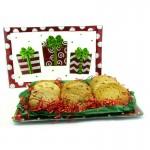 Holiday Presents Cookie Platter Gift - 12-18 Gourmet Cookies