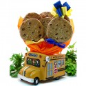 School Bus Cookie Gift Planter - 6 or 12 Gourmet Cookies